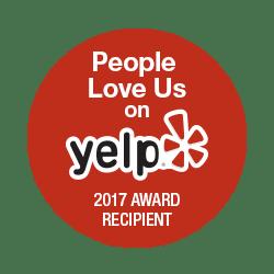 People Love Us on Yelp 2017 Award
